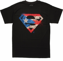 Superman Distressed Flag Logo T-Shirt