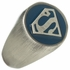 Superman Logo Brushed Signet Ring