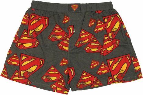 Superman Logo Collage Boxers