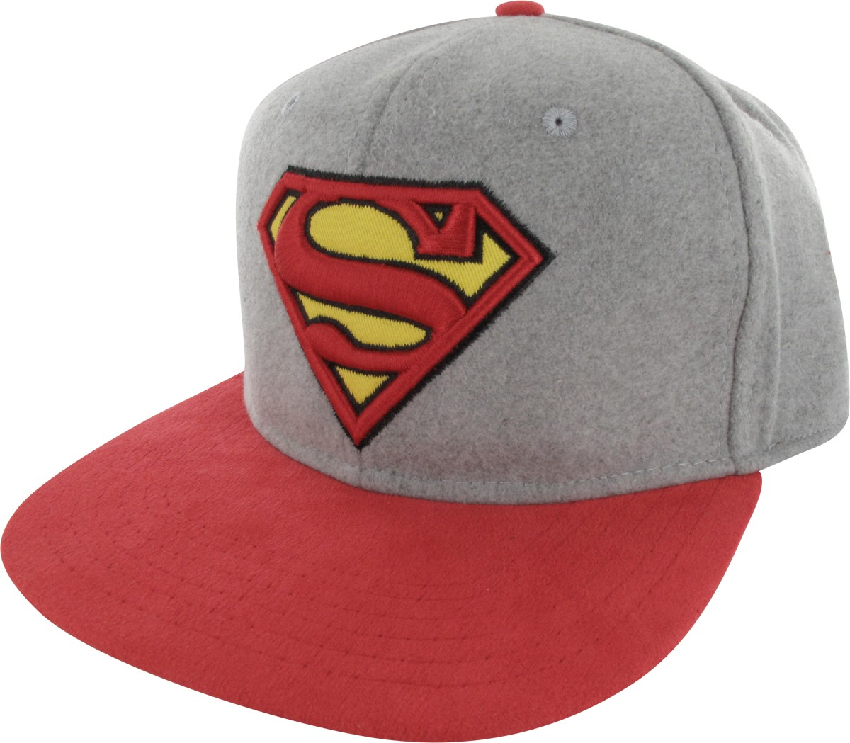 Buckle Hats: Superman Logo Felted Crown Buckle Hat