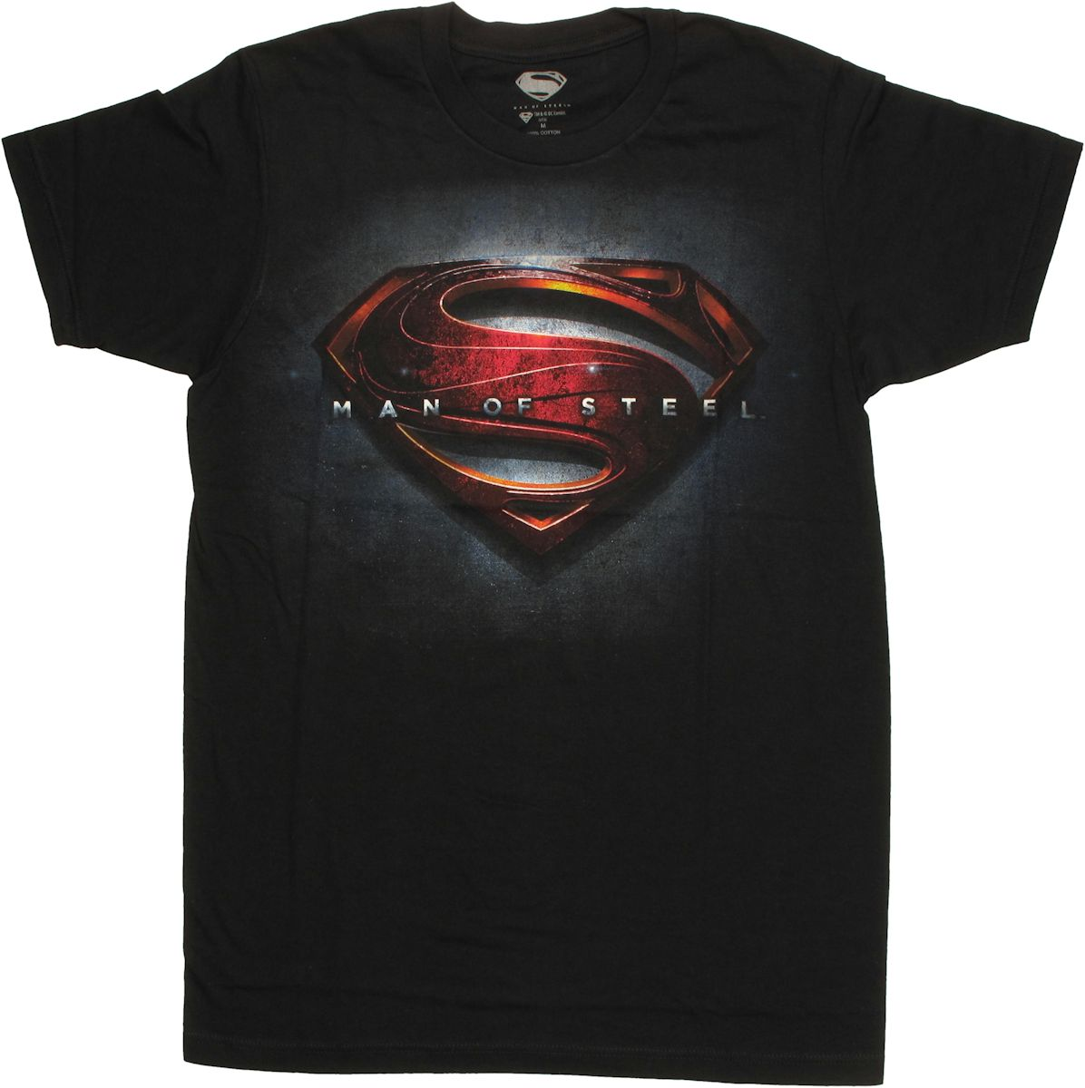 Superman man of steel poster logo t shirt sheer for Man of steel t shirt online