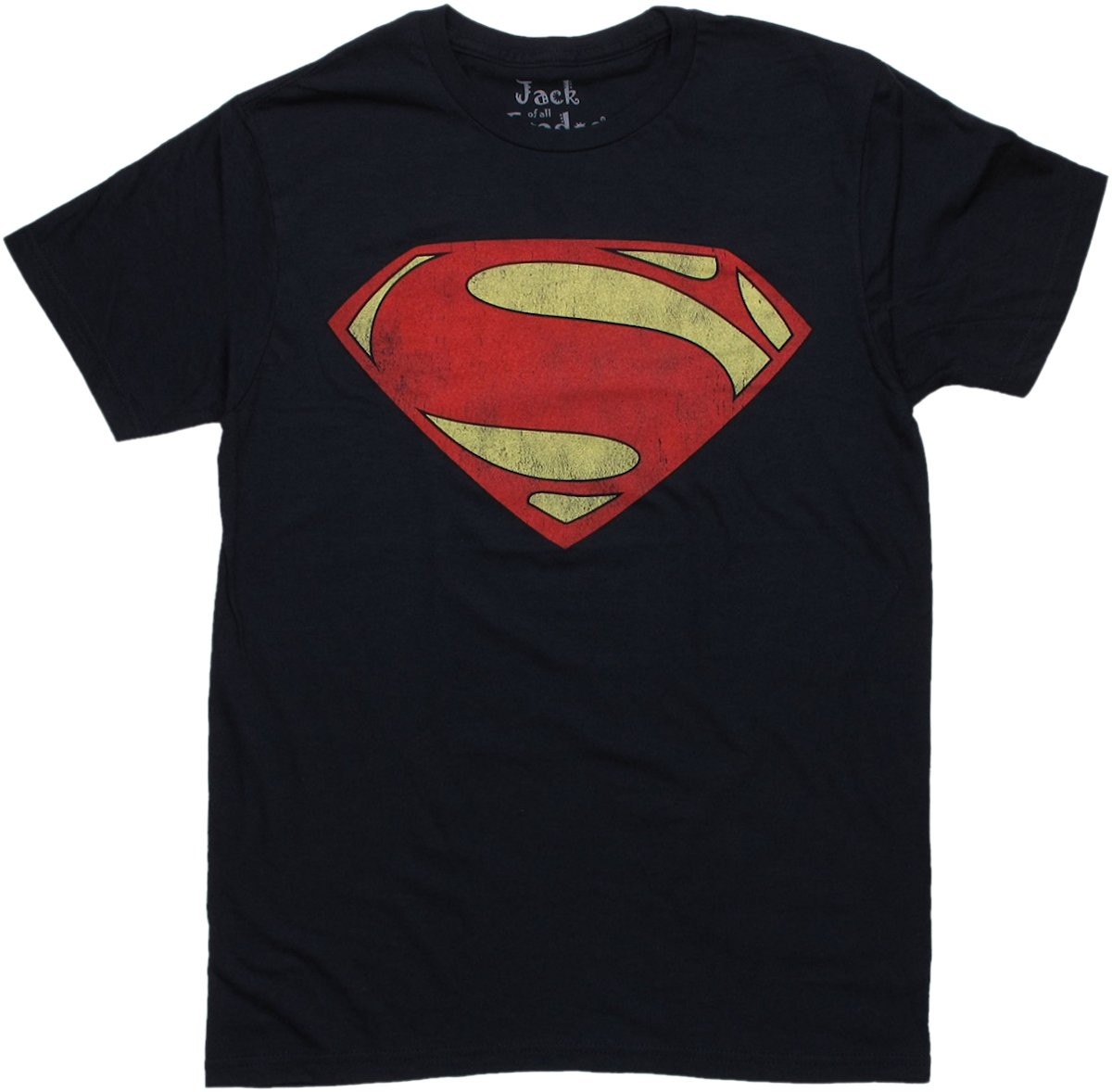 Superman man of steel vintage logo t shirt sheer for Old logo t shirts