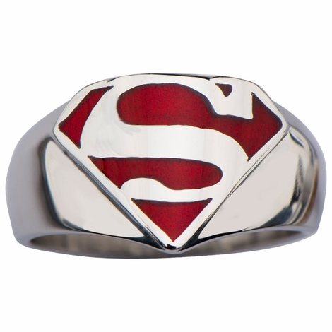 Superman Red Inlay Ring