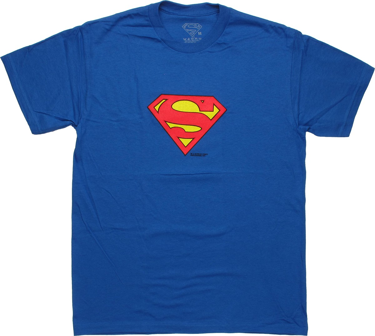 Superman small logo t shirt for Shirts with small logos