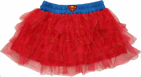Superman Tiered Tutu Skirt