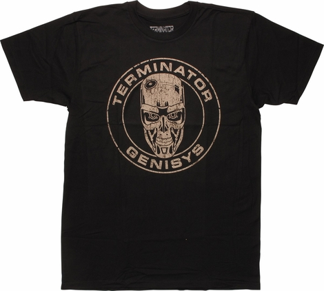 Terminator Genisys T-800 Head in Circle T-Shirt