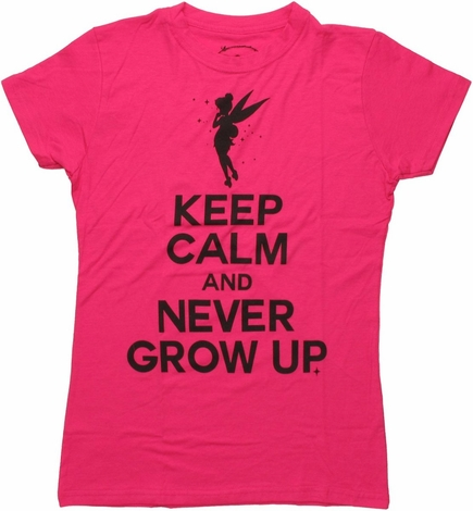 Tinker Bell Keep Calm Never Grow Up Baby Tee