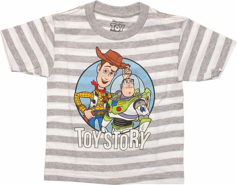 Toy Story Woody and Buzz Striped Toddler T-Shirt