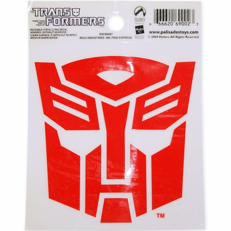 Transformers Autobot Red Decal