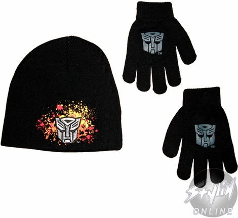 Transformers Autobot Youth Beanie Combo