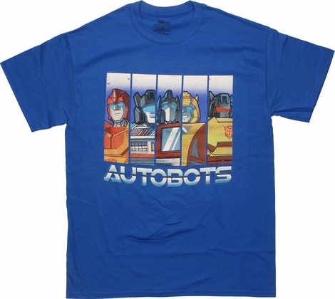 Transformers Autobots Character Bars T-Shirt