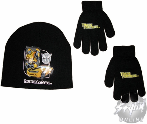 Transformers Bumblebee Youth Beanie Combo