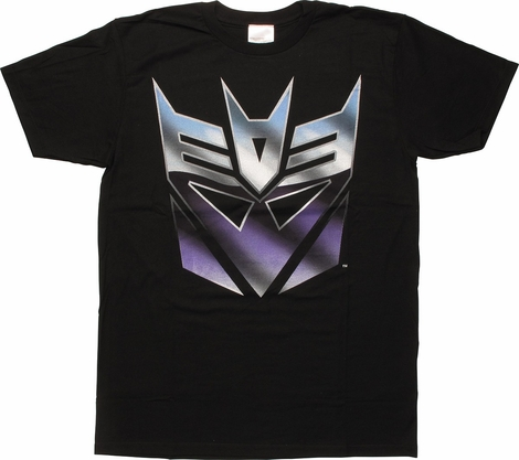 Transformers Classic Metal Decepticon Logo T-Shirt