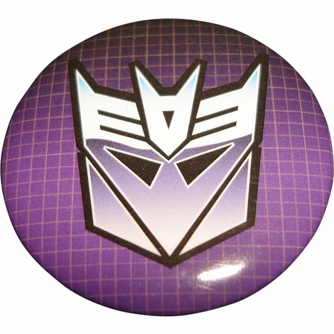 Transformers Decepticon Button