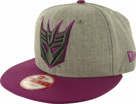 Transformers Decepticon Logo Heather 9FIFTY Hat