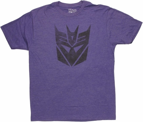 Transformers Decepticon Logo Stencil T Shirt Sheer