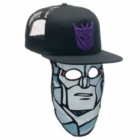 Transformers Decepticon Megatron Mask Trucker Hat