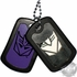 Transformers Decepticon Stencil Dog Tags