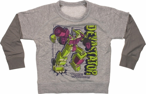 Transformers Devastator Reverse Toddler Sweatshirt