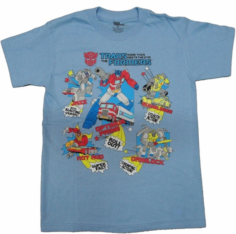 Transformers Features Youth T Shirt