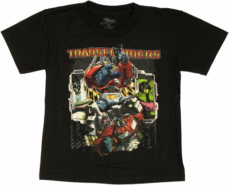 Transformers Group Fence Juvenile T Shirt