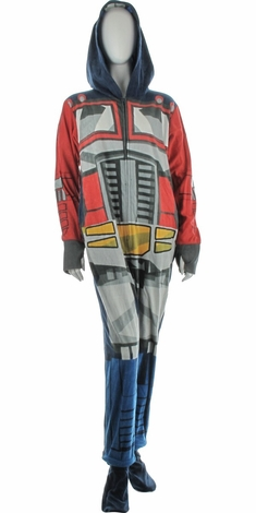 Transformers Optimus Costume Hooded Union Suit