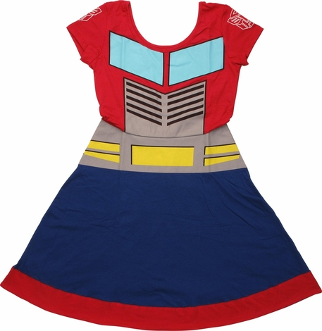 Transformers Optimus Prime A Line Dress