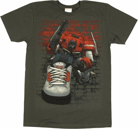 Transformers Optimus Sneaker T Shirt Sheer