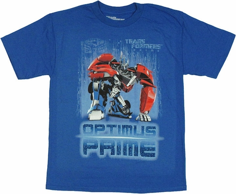 Transformers Prime Optimus Kneel Youth T Shirt