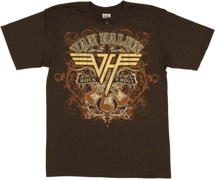Van halen rock n roll t shirt for Rock and roll shirt shop