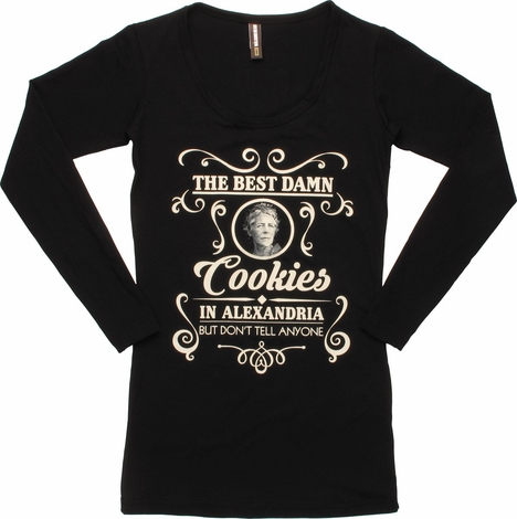 Walking Dead Best Cookies LS Juniors Tunic Shirt
