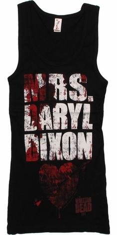 Walking Dead Mrs Daryl Dixon Junior Tank Top