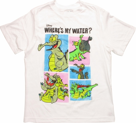 Where's My Water Frames White Youth T-Shirt