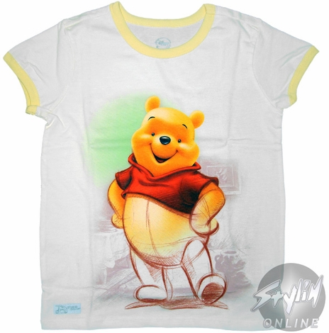 Winnie the Poo Sketch Youth T-Shirt