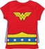 Wonder Woman Belt Blue Cape Youth Girls T-Shirt