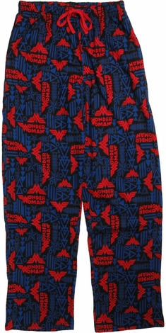 Wonder Woman Geometric Logo All Over Lounge Pants