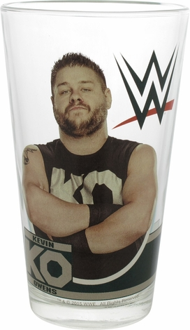 WWE Kevin Owens KO Pint Glass