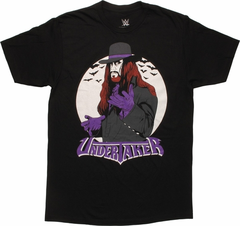 WWE Undertaker Accented in Purple T-Shirt