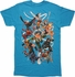 X Men Characters Attack Formation T-Shirt