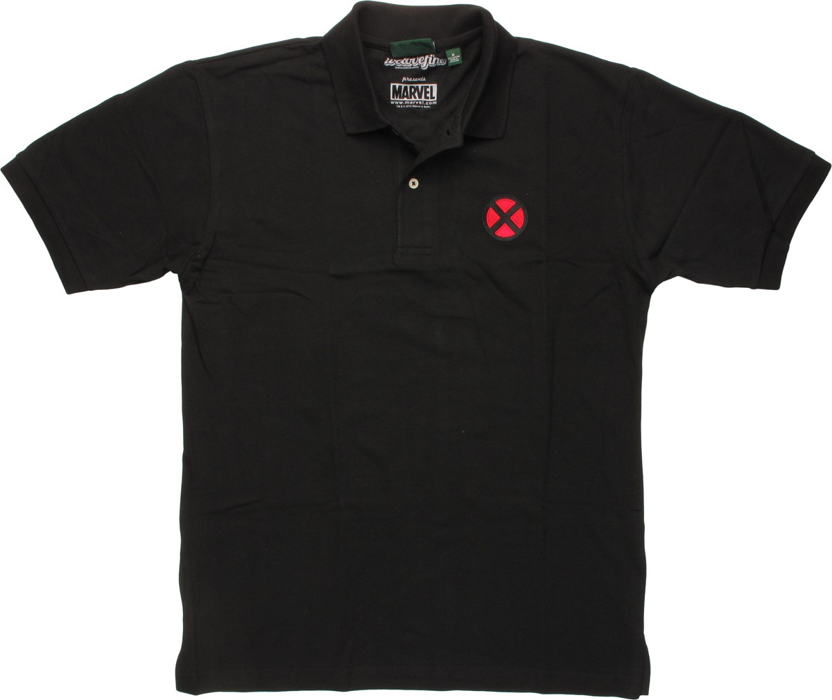 x men embroidered logo polo shirt