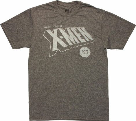 X Men Vintage 63 Logo T Shirt Sheer