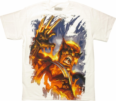 X Men Wolverine Burning Ferocity T-Shirt