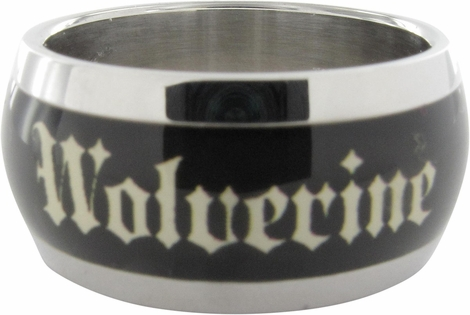 X Men Wolverine Name Black Ring