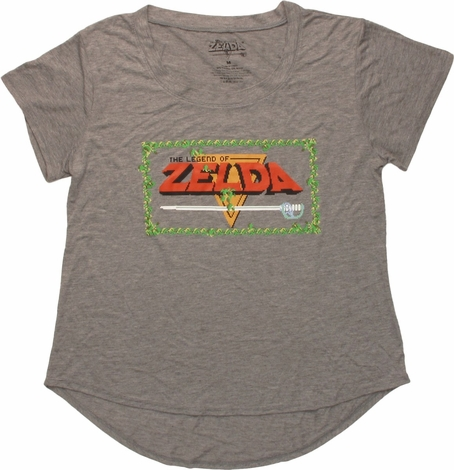 Zelda Game Title Screen Juniors T-Shirt