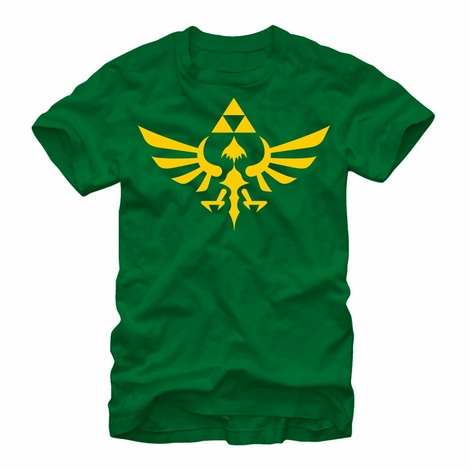 Zelda Skyward Crest Green T-Shirt