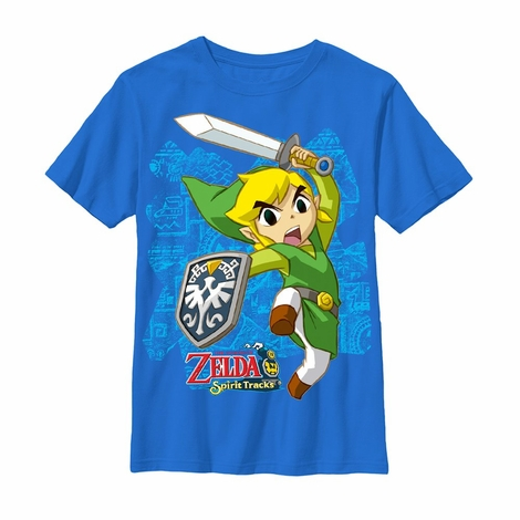 Zelda Spirit Tracks Link Leap Youth T-Shirt