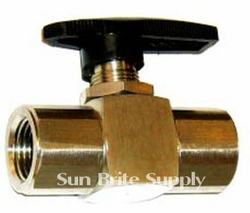 Ball Valve 6000 PSI 3/8 Fpt ,Stainless Steel,,Steel Pressure Washer Part 6367
