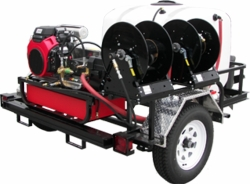 Pressure Pro TRHDC4070HG Cold Water Trailer with Honda GX690 and General Pump Poly-chain drive delivers 4.0 GPM @ 7000 PSI