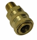 Hansen Brass,Stainless Steel,1/4 Quick Connects Socket W/Mpt Pressure Washer Part 1200