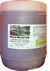 Hood Monster The Best Kitchen Exhaust Cleaning Chemical For Hood Cleaners!  For all kitchen and food service equipment including hoods, ovens, and ranges. Dilute at up to 100:1!